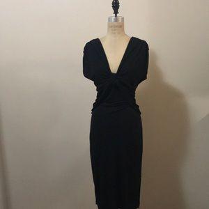 M By Madonna x H&M Black Jersey Dress V Neck NWT